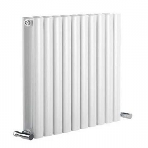 Reina Neva Double Panel Horizontal Designer Radiator - 1416mm Wide x 550mm High - White